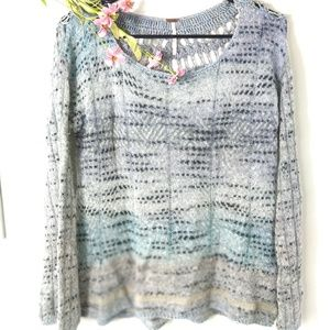 Free people light boho sweater